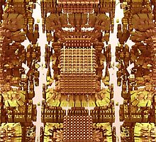 Golden - Abstract Fractal CG by gr8effect