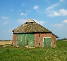 Old Barn in Frisian Landscape by hollandimages