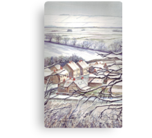 Big Freeze in Ebberston Canvas Print
