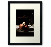 before a holiday lunch Framed Print