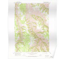 USGS Topo Map Oregon Wood Butte 282141 1967 24000 Poster