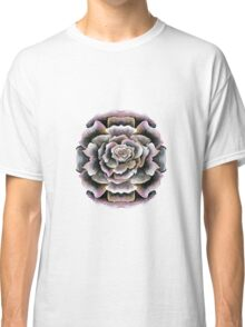 Sweet Pink Acrylic Rose Painting Classic T-Shirt