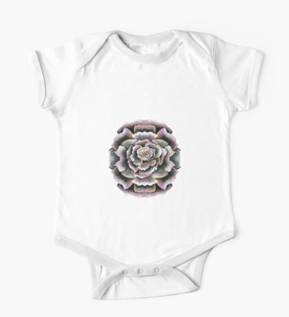 Sweet Pink Acrylic Rose Painting One Piece - Short Sleeve