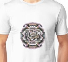 Sweet Pink Acrylic Rose Painting Unisex T-Shirt