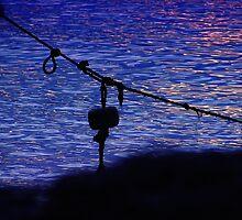 Sentados frente al lago II by Constanza Caiceo