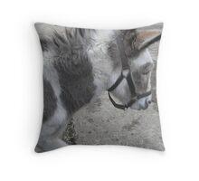 Shy Donkey Throw Pillow