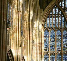 Light in Malvern Priory by Cliff Williams