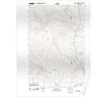 USGS Topo Map Oregon Picture Gorge West 20110822 TM Poster
