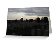 The sun may set, but we'll never forget. Greeting Card