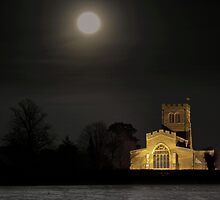 """Moonlight""  St Laud's Church Sherington by James  Key"