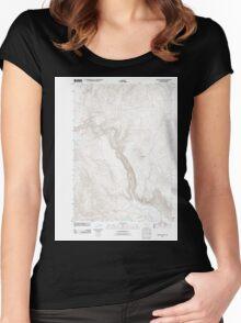 USGS Topo Map Oregon Becker Creek 20110831 TM Women's Fitted Scoop T-Shirt