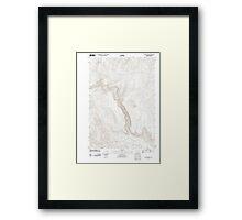 USGS Topo Map Oregon Becker Creek 20110831 TM Framed Print