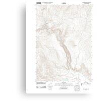 USGS Topo Map Oregon Becker Creek 20110831 TM Canvas Print