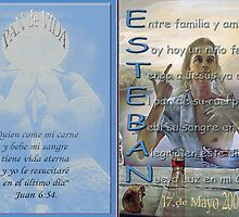Sample of Holy Communion Card with Acrostic by Dulcina