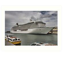 Crystal Serenity Cruise Liner Art Print