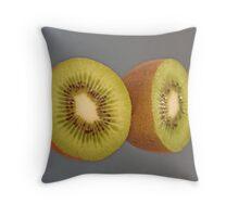 Kiwi Eyes Throw Pillow