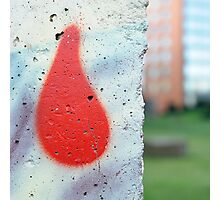 Red Drop - Berlin Wall Photographic Print