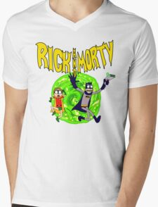 Rick and Morty BatDimension Mens V-Neck T-Shirt