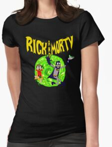 Rick and Morty BatDimension Womens Fitted T-Shirt