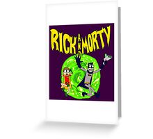 Rick and Morty Batman Reality Greeting Card