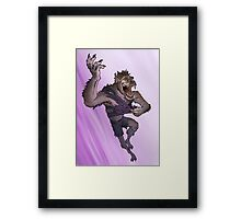 Werewolf Transformation With Background Framed Print