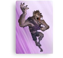 Werewolf Transformation With Background Canvas Print