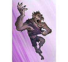 Werewolf Transformation With Background Photographic Print