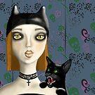 girl&cat by Anna Bulgak