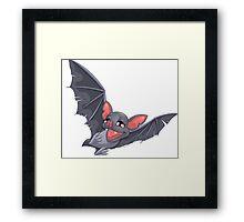 flying bat Framed Print