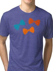 Vintage Pumpkin Bows Tri-blend T-Shirt