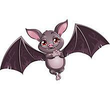 flying bat Photographic Print