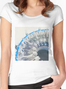 Project Abyss - Abstract CG Women's Fitted Scoop T-Shirt