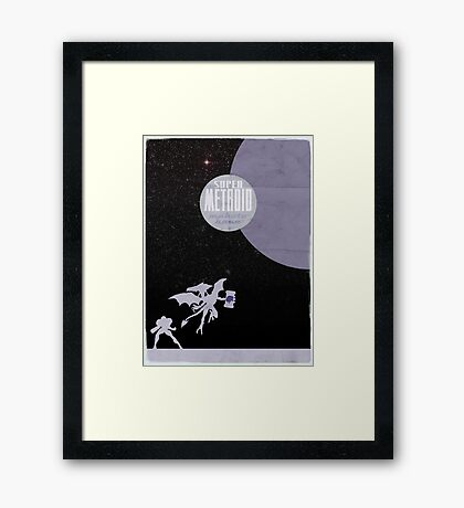 Minimalist Video Games: Super Metroid  Framed Print