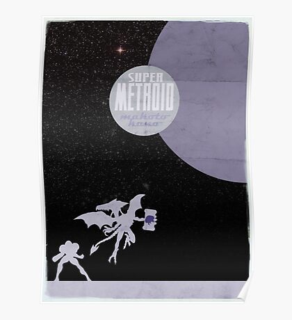 Minimalist Video Games: Super Metroid  Poster