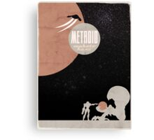 Minimalist Video Games: Metroid Canvas Print