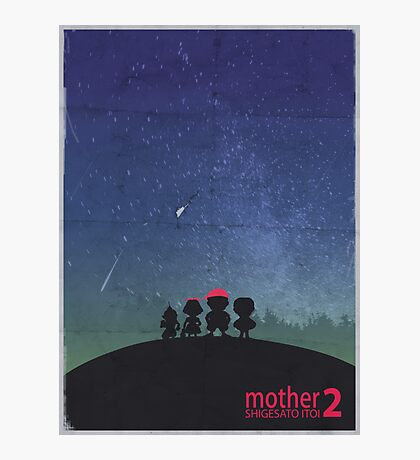 Minimalist Video Games: Mother 2  Photographic Print