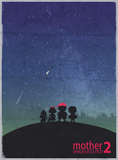 Minimalist Video Games: Mother 2  by colorlust
