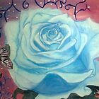 The blue rose by Jazmine Saunders