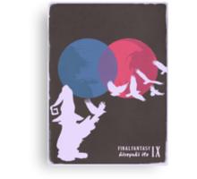 Minimalist Video Games: Final Fantasy IX Canvas Print