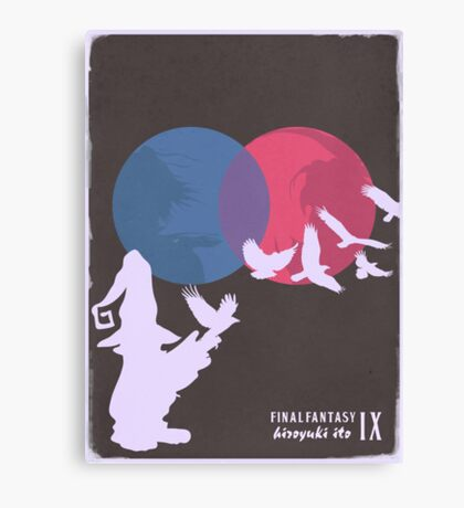 Minimalist Video Games: Final Fantasy IX Canvas Print