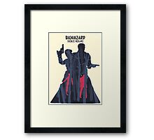 Minimalist Video Games: Resident Evil  Framed Print