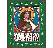 Icon of Mary Magdalen Photographic Print