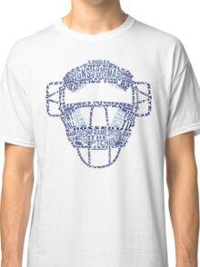 Baseball Catchers Mask Calligram Classic T-Shirt