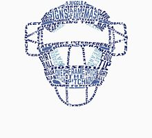 Baseball Catchers Mask Calligram Unisex T-Shirt