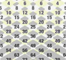 Cubic Times Table Sticker
