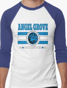 Angel Grove Athletics - Blue Men's Baseball ¾ T-Shirt