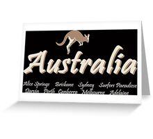 Australia - Kangaroo  Greeting Card