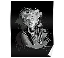 Marilyn Monroe (Black Background) Poster