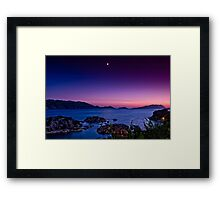 Venus and the moon in Lycia Framed Print