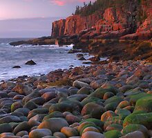 Dawn's Early Light - Otter Cliffs by Stephen Vecchiotti